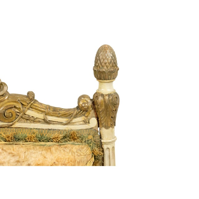 Italian Neoclassic Silk Upholstery Chairs For Sale In New York - Image 6 of 11