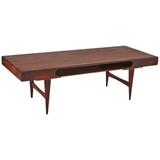 Danish Rosewood Cocktail Table With Cutout