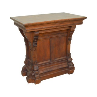 Gothic Revival Antique Walnut Podium