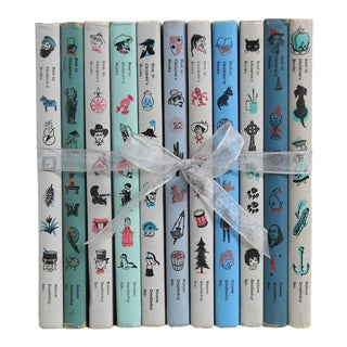 Vintage Decorative Book Gift Set: Muted Kids Classics For Sale