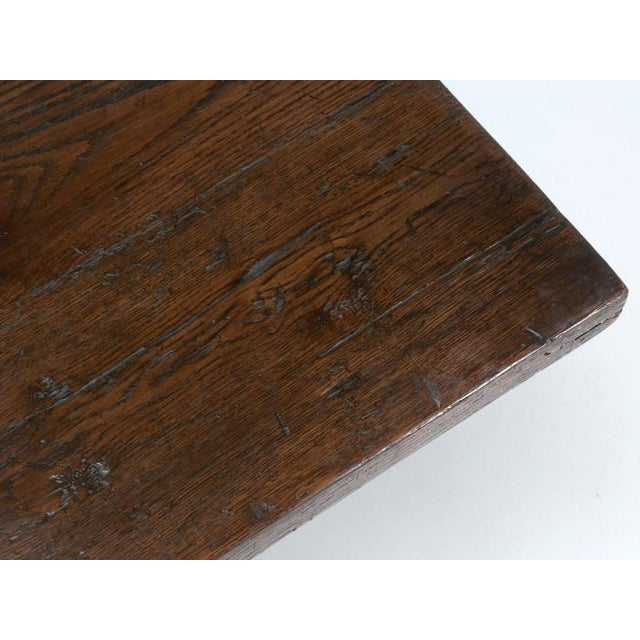 Brown Antique French Oak Trestle Dining Table For Sale - Image 8 of 11