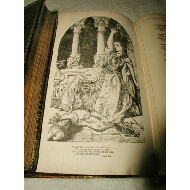 """""""Scott's Poetical Works"""" Illustrated Leather Bound - Image 7 of 8"""