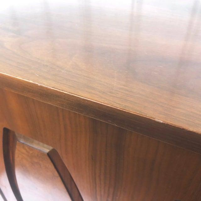 Mid-Century Modern Sliding Front Highboy Dresser For Sale - Image 9 of 13