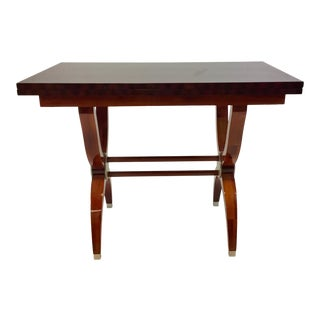 Modern Mahogany Console Table For Sale