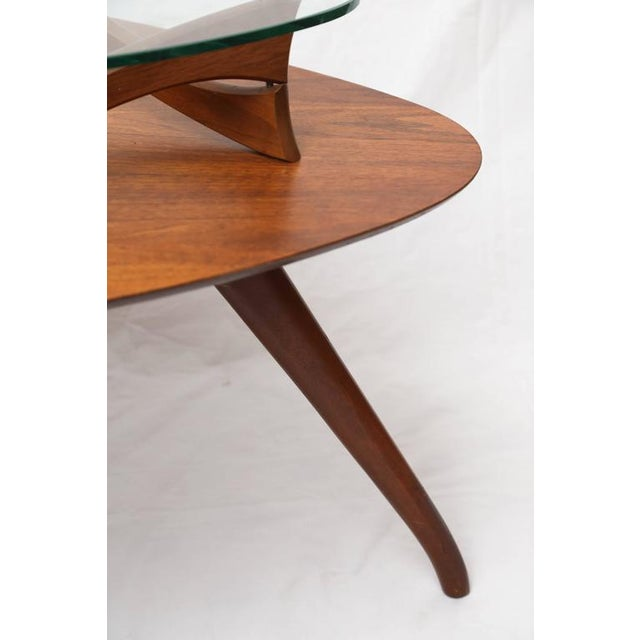 Glass 1960s American Vladimir Kagan Style Side Table For Sale - Image 7 of 8