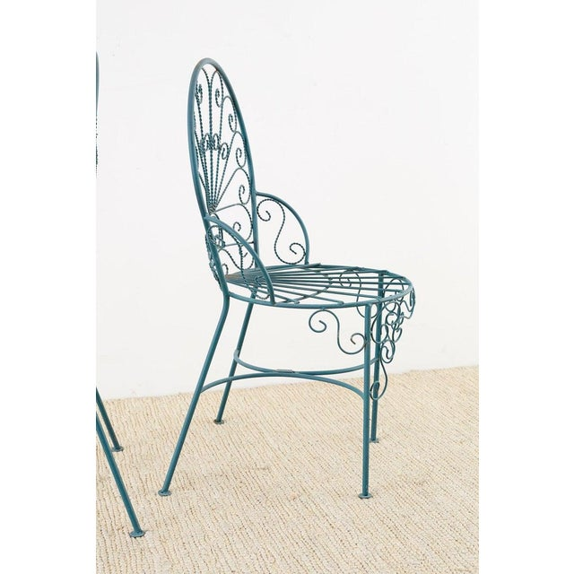 Pair of Salterini Style Iron Garden Patio Chairs For Sale - Image 10 of 13