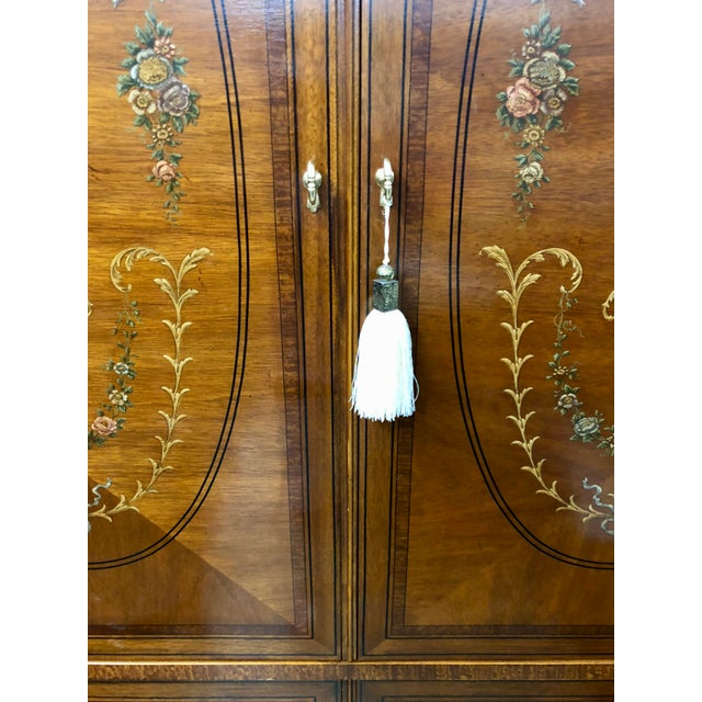2000s Vintage Drexel Heritage French Country Armoire For Sale - Image 5 of 9