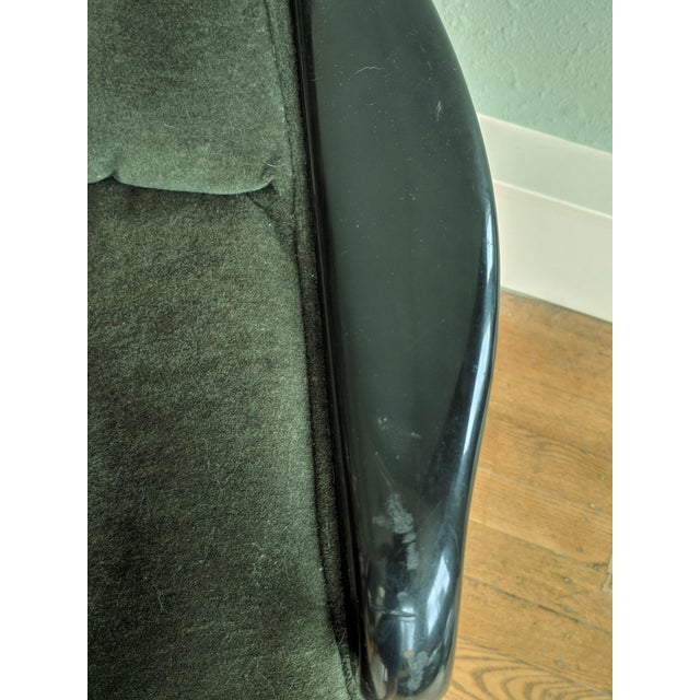 Metal Vintage Knoll Pollock Green Mohair Velvet Executive Chairs - a Pair For Sale - Image 7 of 13