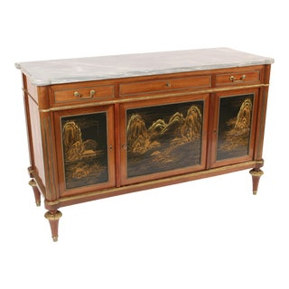 Louis XVI Style Chinoiserie Decorated Buffet For Sale