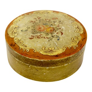 1940s Occupied Japan Papier Mache Box For Sale