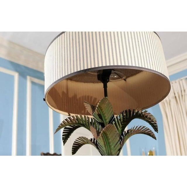 Italian Tole Palm Lamp - Image 5 of 5