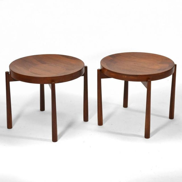 Mid-Century Modern Swedish Solid Teak Flip-Top Tables in the Manner of Jens Quistgaard For Sale - Image 3 of 11