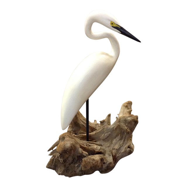 Carved Stork Figure by Eddie Wozny - Image 1 of 9