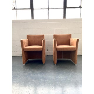 Late 20th Century Vintage Ultrasuede Club Chairs - a Pair Preview