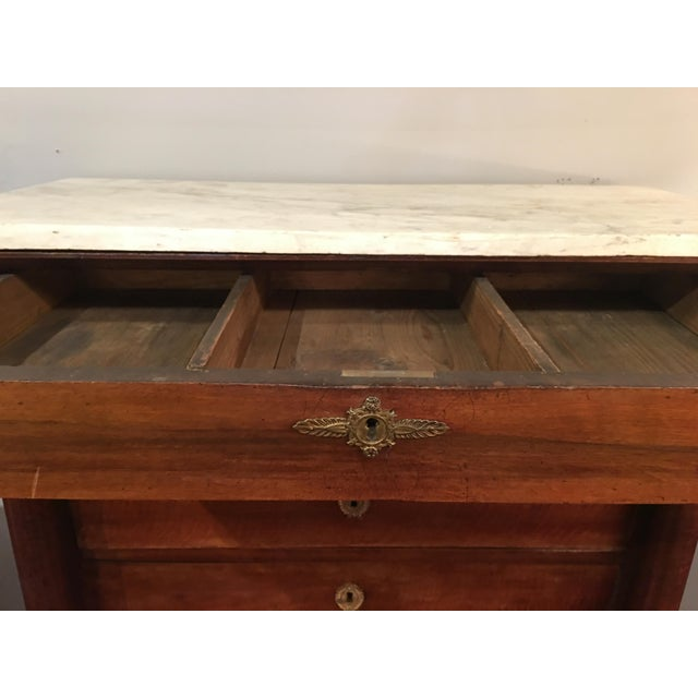 Empire Semainier (7 Drawer) Chest With Marble Top For Sale - Image 10 of 13