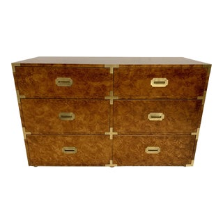 Faux Tortoise Campaign Dresser For Sale