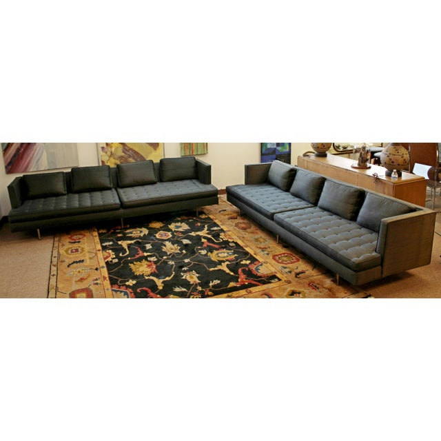 1990s Mid-Century Modern Edward Wormley for Dunbar Chamberlain Model 4907a Sofa For Sale - Image 5 of 8
