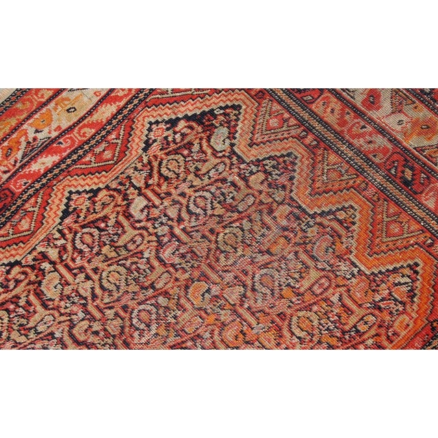 Persian 1880s, Handmade Antique Collectible Persian Mishan Malayer Rug 2.3' X 3.7' For Sale - Image 3 of 7