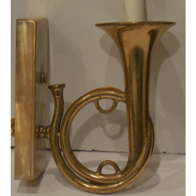 Brass Musical Wall Sconces - A Pair For Sale - Image 9 of 11