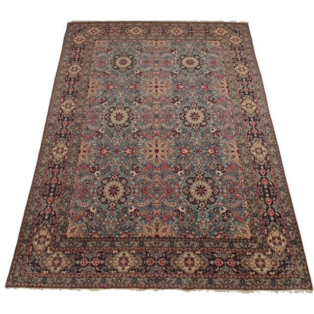 Silk & Wool Hand Knotted Persian Qum Rug- 8′6″ × 13′1″ - Image 2 of 2