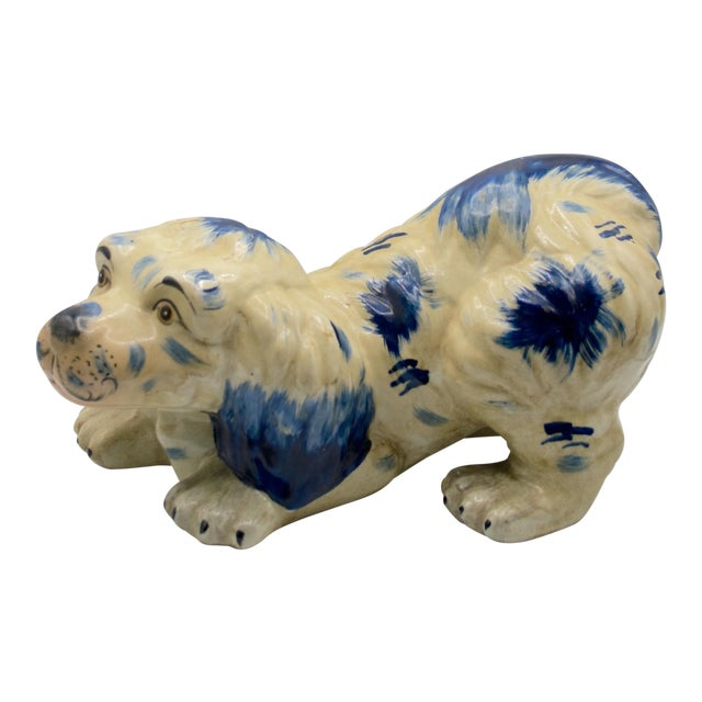 Staffordshire Style Puppy Figurine For Sale