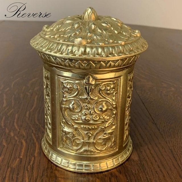 19th Century Bronze French Humidor is an unusual find! Cast from solid bronze in an intricate classical relief pattern, it...