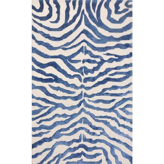 Bamboo Silk and Wool Zebra Area Rug - 5' X 8' - Image 1 of 4