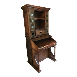 Reproduction Victorian Reign Postmaster's Desk For Sale