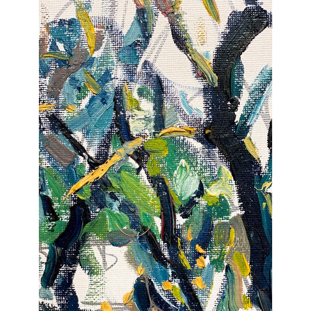 Abstract Expressionist James River Morning - Original Oil Painting by Rebecca Dvorak For Sale - Image 4 of 7