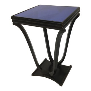 1940s Art Deco Ebonized Wood Side Table For Sale