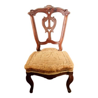 Late 19th Century Vintage Deconstructed Victorian Renaissance Revival Walnut Side Chair For Sale