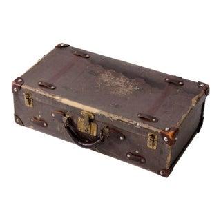Vintage Brown Hardboard Luggage For Sale