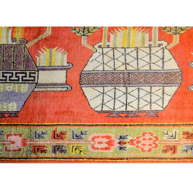 1920s Wonderful Early 20th Century Samarkand Rug For Sale - Image 5 of 8