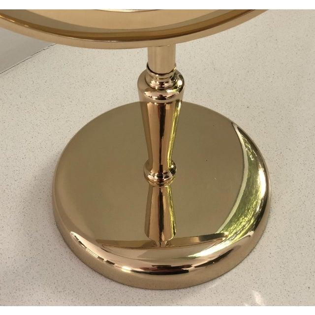 Metal Brass Vanity Mirror by Charles Hollis Jones For Sale - Image 7 of 8