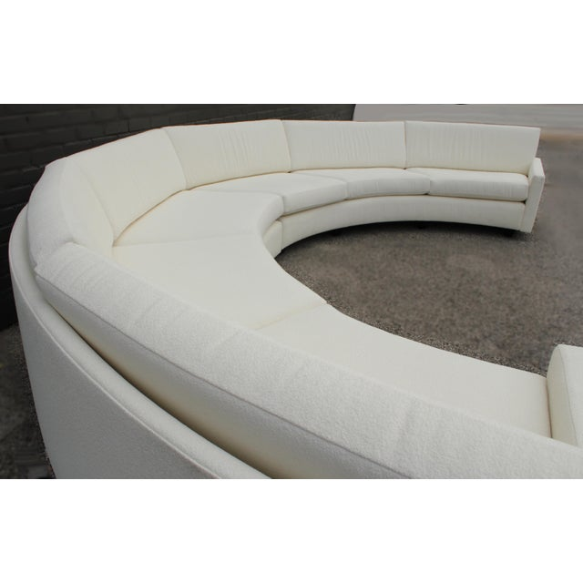 Fabric 1970s Milo Baughman for Thayer Coggin Circular Sofa Fully Restored For Sale - Image 7 of 13
