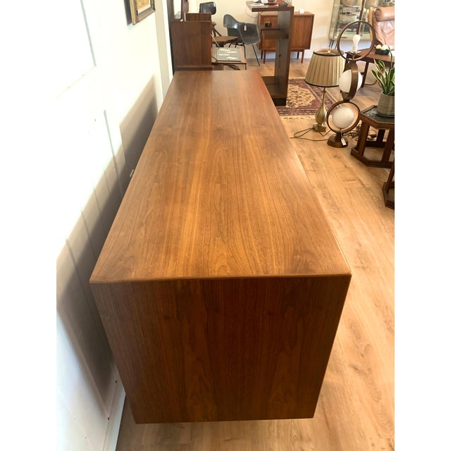 1960s Teak Norwegian Credenza With Key For Sale - Image 11 of 13
