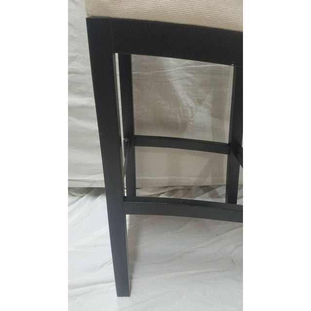 Cjc Concepta Barcelona Bar Stool Ivory Fabric Wenge Wood Chair For Sale - Image 9 of 11