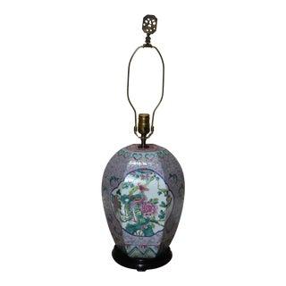 Nyonya Phoenix Octagonal Ginger Jar Lamp For Sale