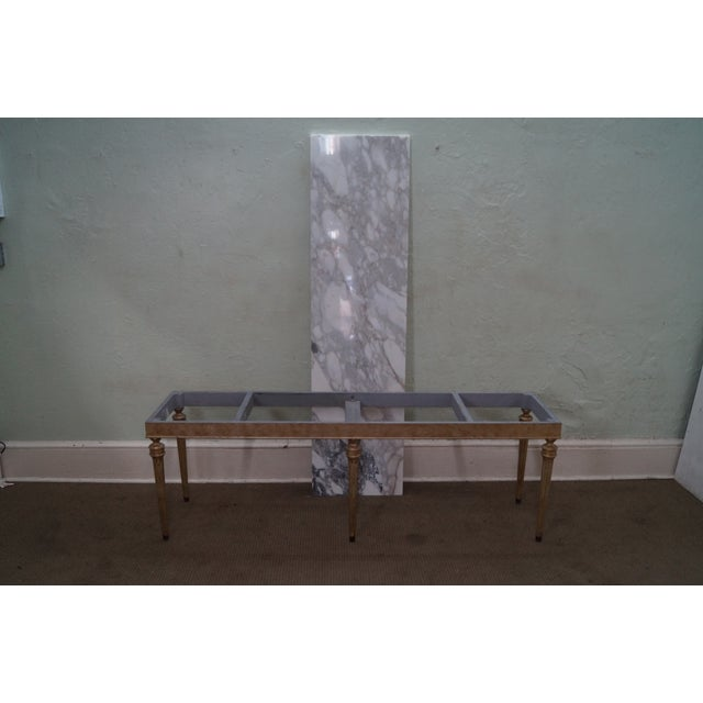 Vintage Silver Gilt Marble Top Console Table - Image 10 of 10