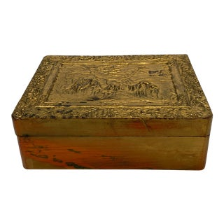 Japanese Repousse Laquer Box For Sale