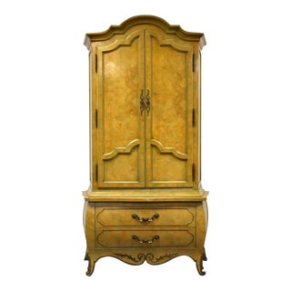 Mastercraft Burl Armoire Dresser For Sale
