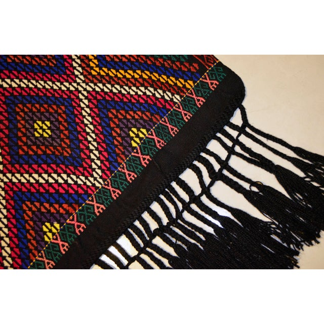 Turkish Hand Woven Kilim Rug/Braided Wall Hanging - 3′2″ X 3′5″ For Sale - Image 9 of 9