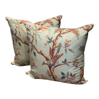 "Brunschwig & Fils ""Birds of a Feather""- Pillows - a Pair For Sale"