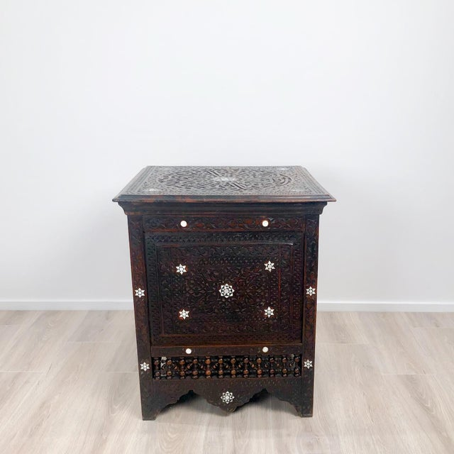 Late 19th Century Inlaid Square Table, Morocco Circa 1880 For Sale - Image 5 of 5