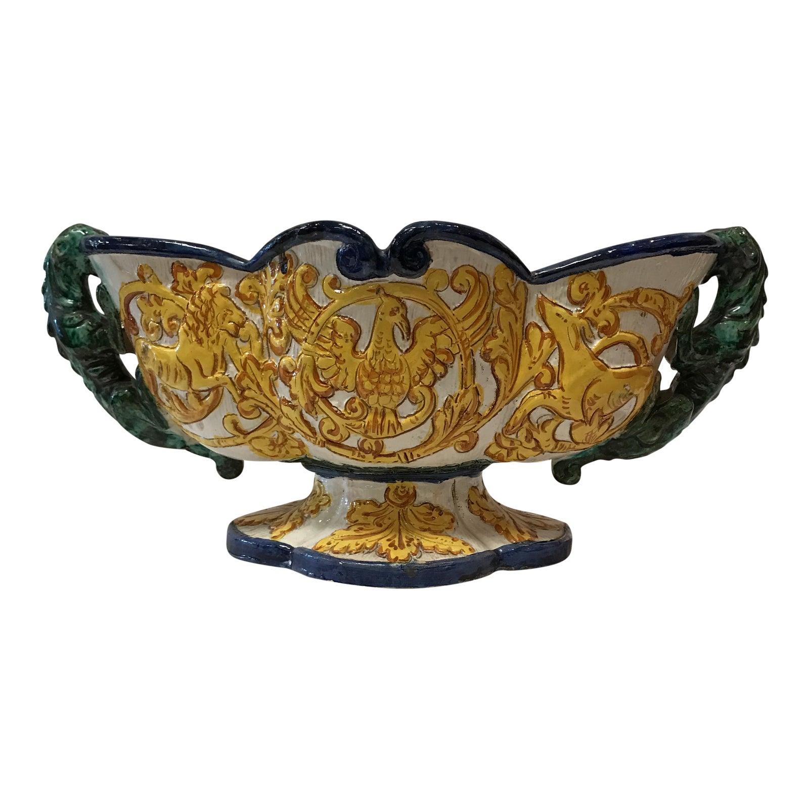 Vintage Italian Pottery Vase | Chairish