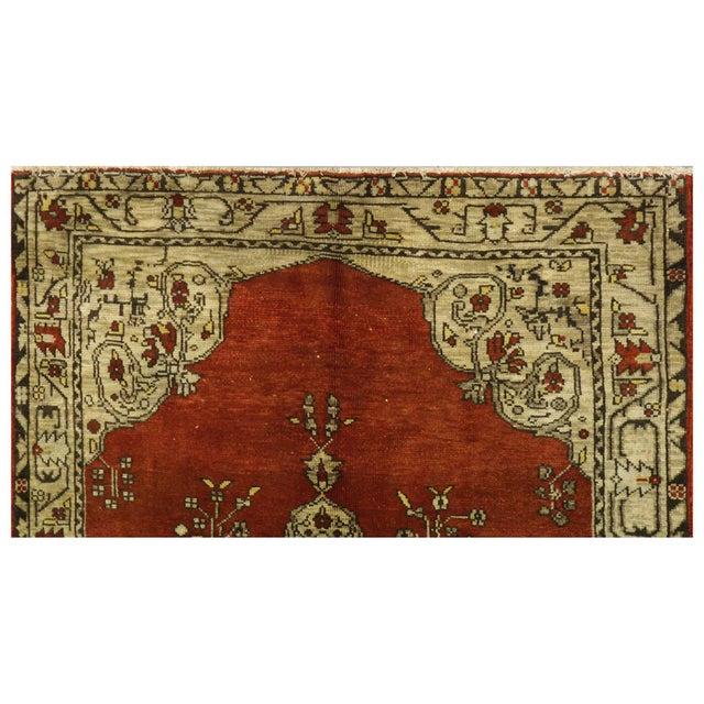 "Islamic Vintage Turkish Oushak Rug - 5'6"" x 9'5"" For Sale - Image 3 of 4"