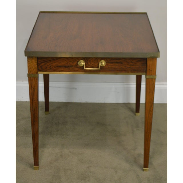 Regency Baker Vintage Regency Directoire Style Rosewood One Drawer Side Table For Sale - Image 3 of 13