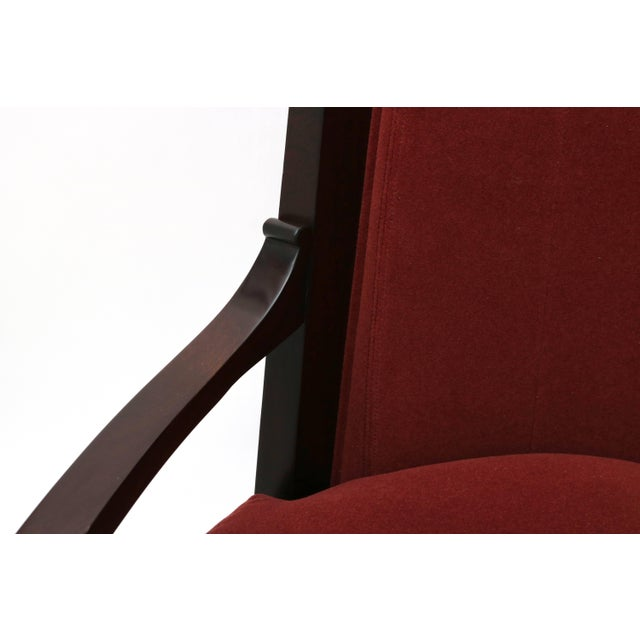 Wood Lucien Rollin Collection Art Deco Armchair by William Switzer Showroom For Sale - Image 7 of 11