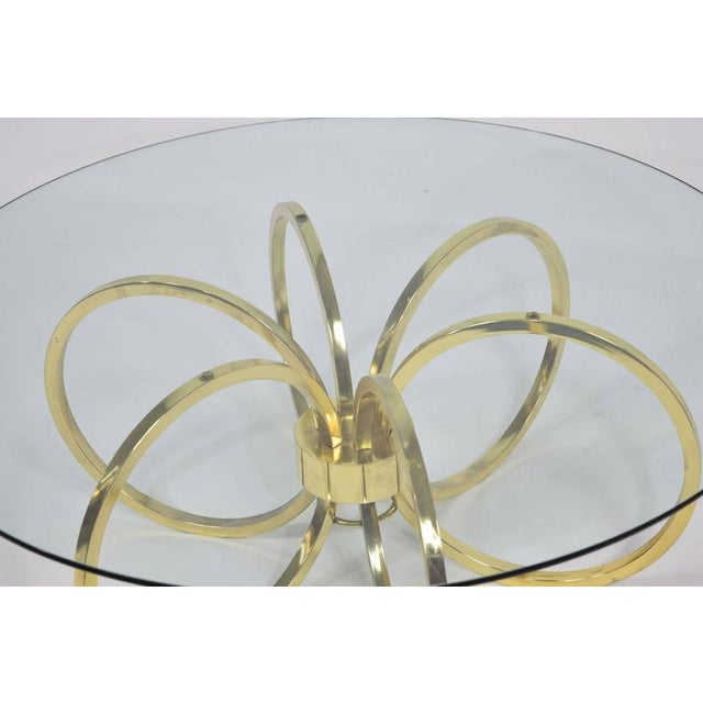 Milo Baughman Style Brass Finish Coffee Table - Image 3 of 6