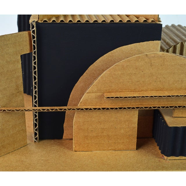 Cubist Bauhaus Style Architectural Cardboard Table Sculpture by Virgil Greca For Sale - Image 12 of 13